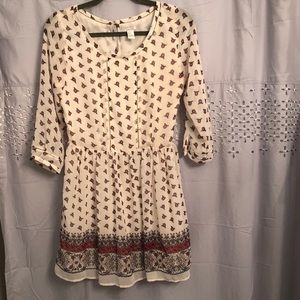 Cream tunic dress